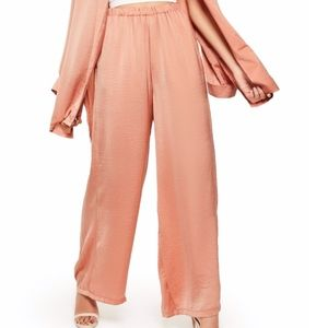 Missguided Satin Wide Leg Trousers